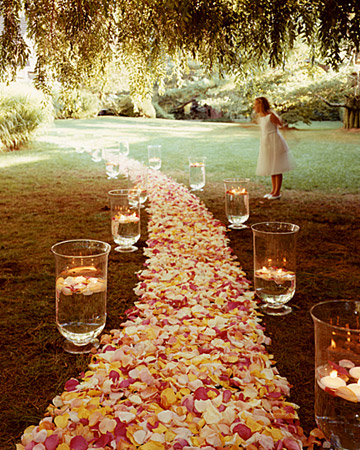 Do it yourself weddings diy aisle and altar flowers for Wedding walkway
