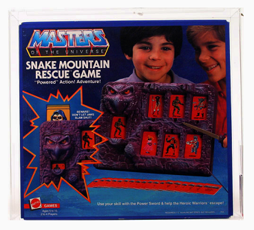 MATTEL MASTERS OF THE UNIVERSE GAME - SNAKE MOUNTAIN RESCUE GAME	1985	85NM+