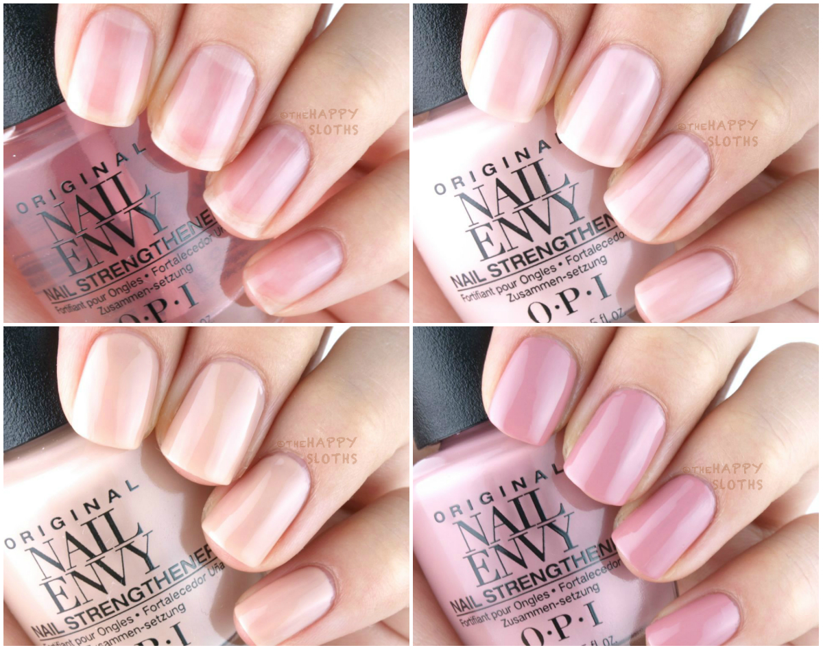 New Opi Nail Envy Strengthener Strength Color Review And Swatches