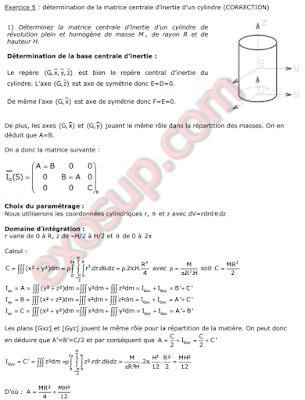 matrice d'inertie d'un cylindre