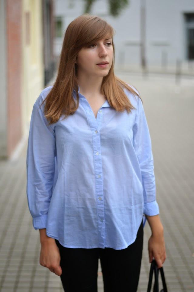 chemise bleue h&m