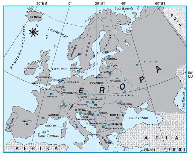Benua Eropa: Negara, Letak Geografis, Batas, Gunung, Luas, Iklim dan Bentang Alamnya