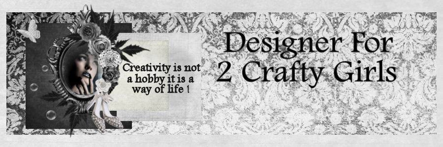 Designer for 2 Crafty Girls Challenge Blog