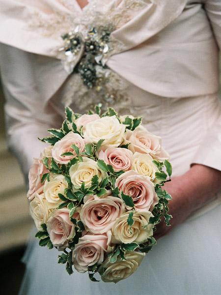 The Traditional Round Bouquet Roses And Peonies Are Among Flowers Which Often Feature In A Wedding Both For Their Beauty Because