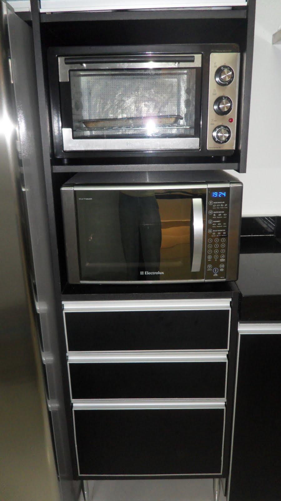 Aparador Ingles Antiguo ~ Wibamp com Cozinha Planejada Forno Eletrico E Microondas