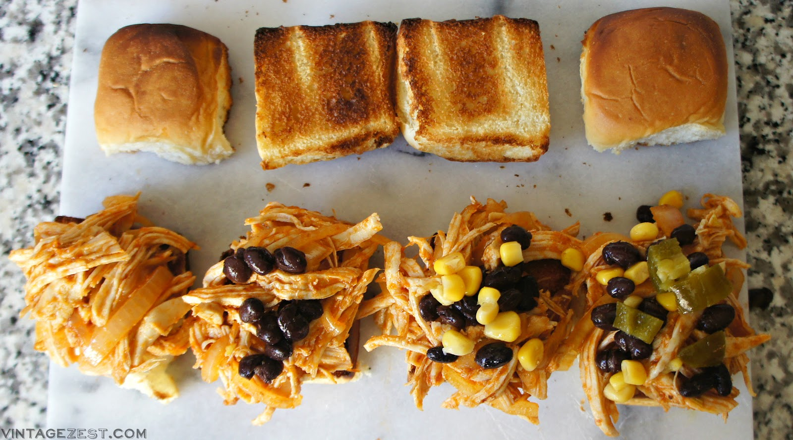 Spicy Chipotle Chicken Sliders recipe on Diane's Vintage Zest!  #ad #VivaLaMorena