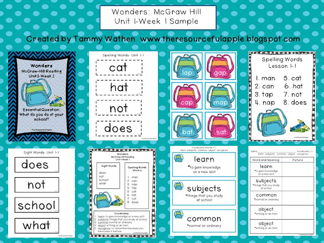 https://www.teacherspayteachers.com/Product/Wonders-Supplemental-Unit-Grade-1-Unit-1-779002