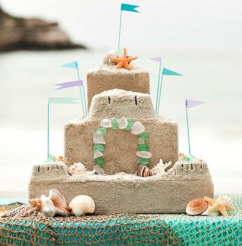 DIY Sandcastle Centerpiece