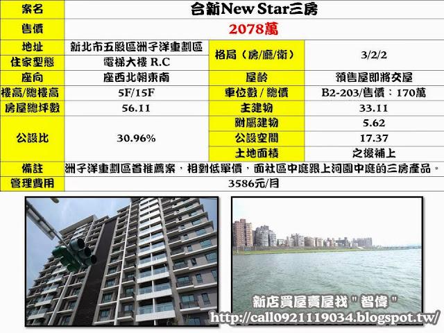 (委託終止)電梯物件推薦-合新New Star三房 [五股]