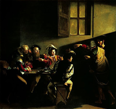 Le Caravage - La vocation de Saint Mathieu,1599-1600