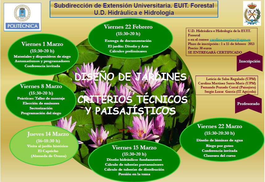 seminario de diseño de jardines: criterios técnicos y