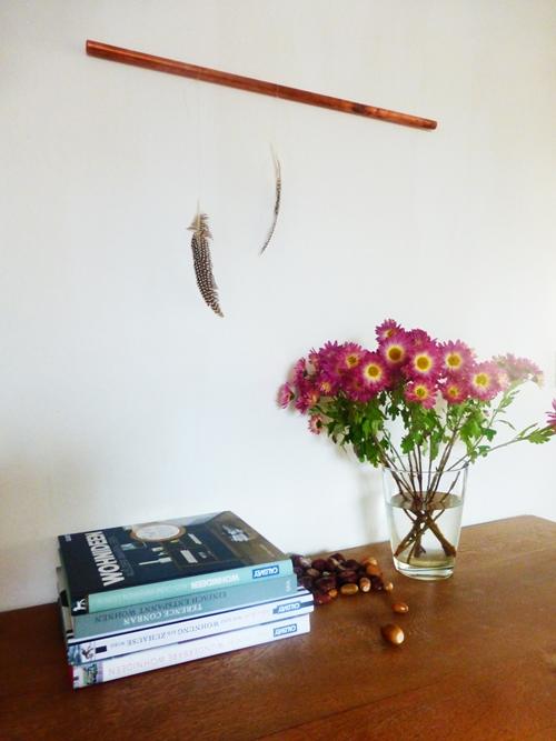 Dekoration Blumen Kupfer Federn Wohnbuch