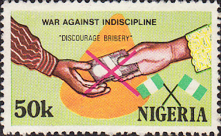 War Against Indiscipline - Nigerian stamp
