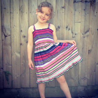 Refashioned girls dress by Five Go Blogging