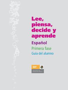 LEE, PIENSA, DECIDE Y APRENDE (GUIA DEL ALUMNO