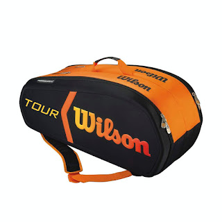 tenisový bag Wilson BURN MOLDED 9 pack černo / oranžový