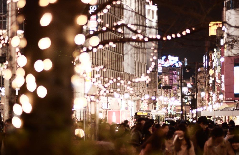 渋谷のイルミネーションの写真
