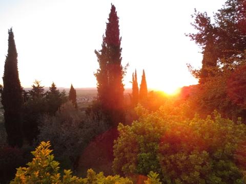 Pala Italiaa - auringonlasku