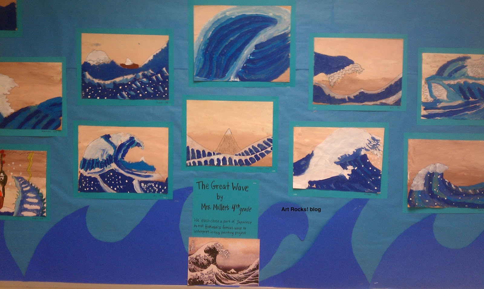 Art rocks grade 4 the great wave continued for 4th grade craft projects