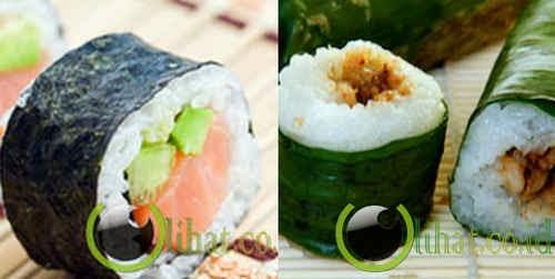 Sushi Kalau Di Indonesia mungkin Lemper kali ya abis teksturnya hamper sama.