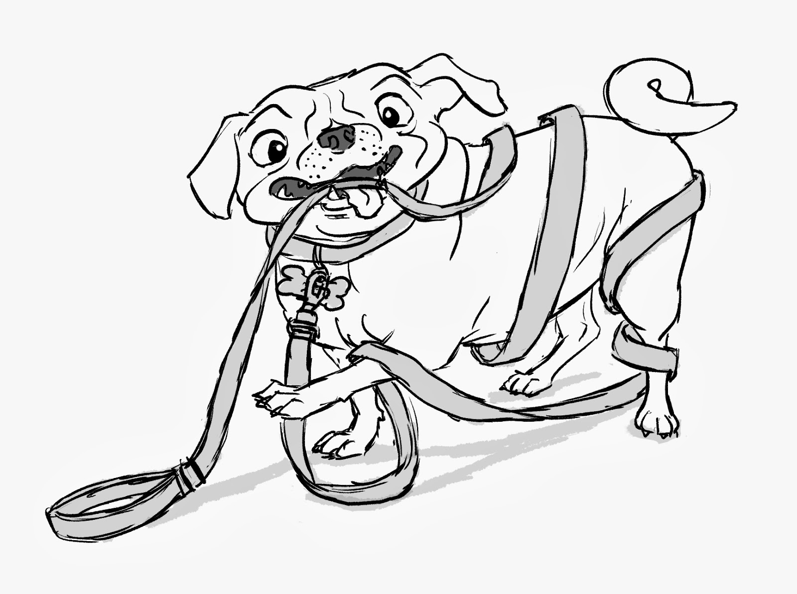 Pug Coloring Pages For Kids Coloring Pages Of Pugs