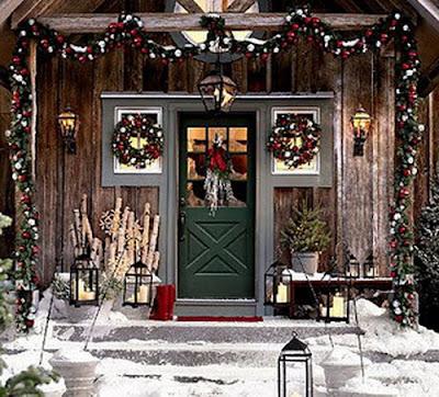 fachada navideña