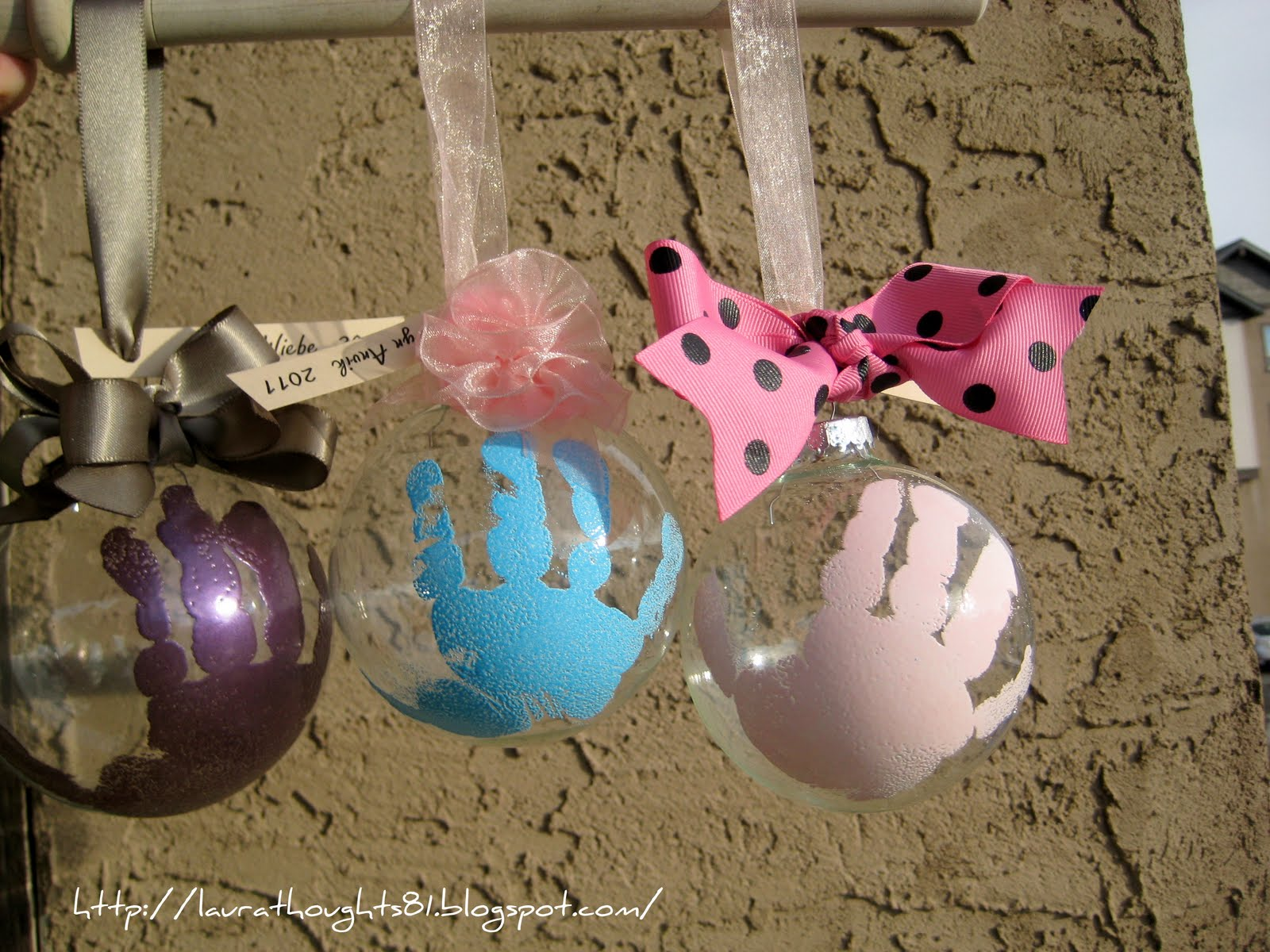 Laura Thoughts Hand Print Ornaments