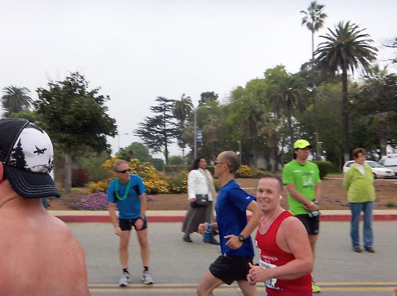 Running through Veterans Administration LA Marathon