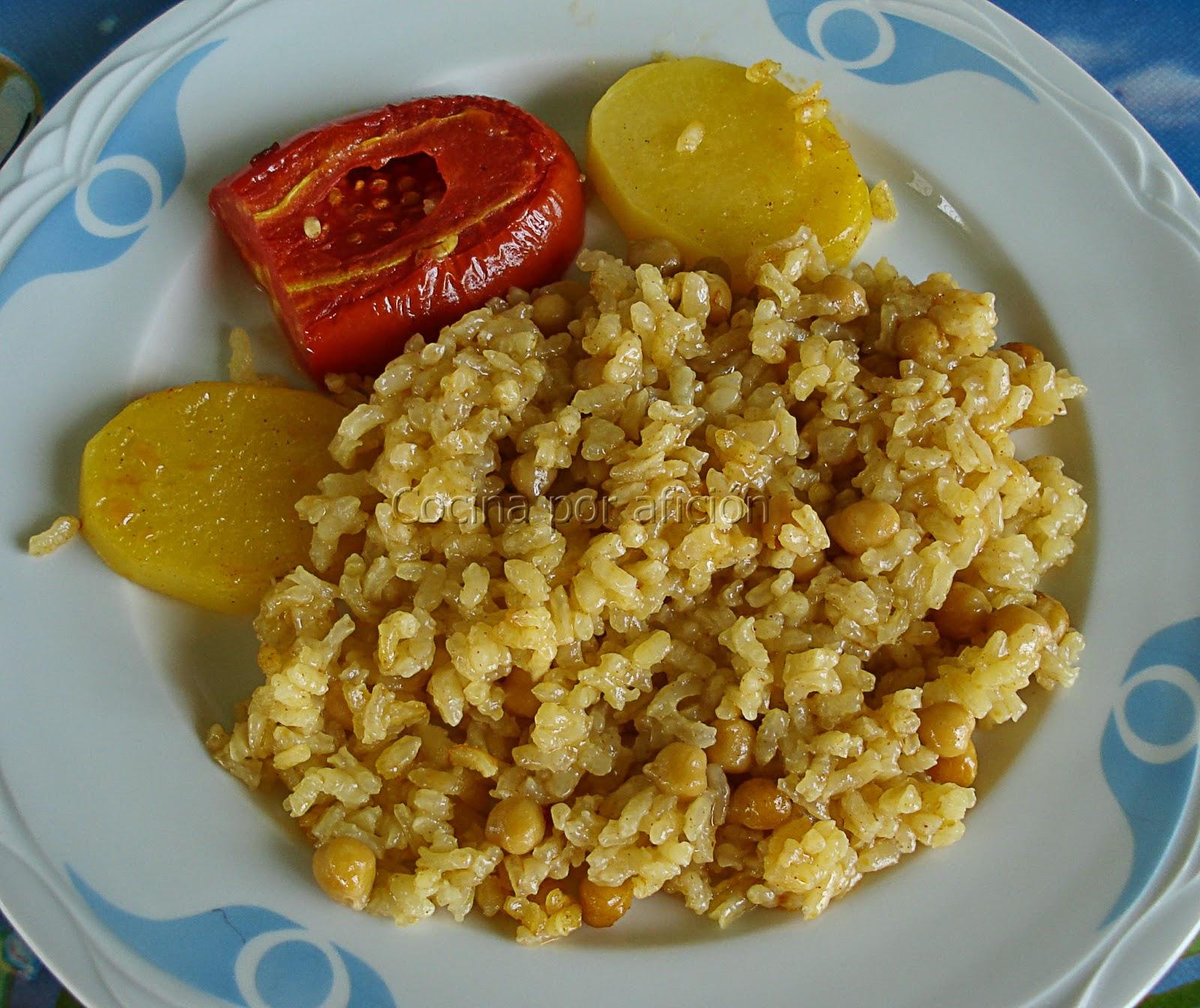 arroz, pobre, horno