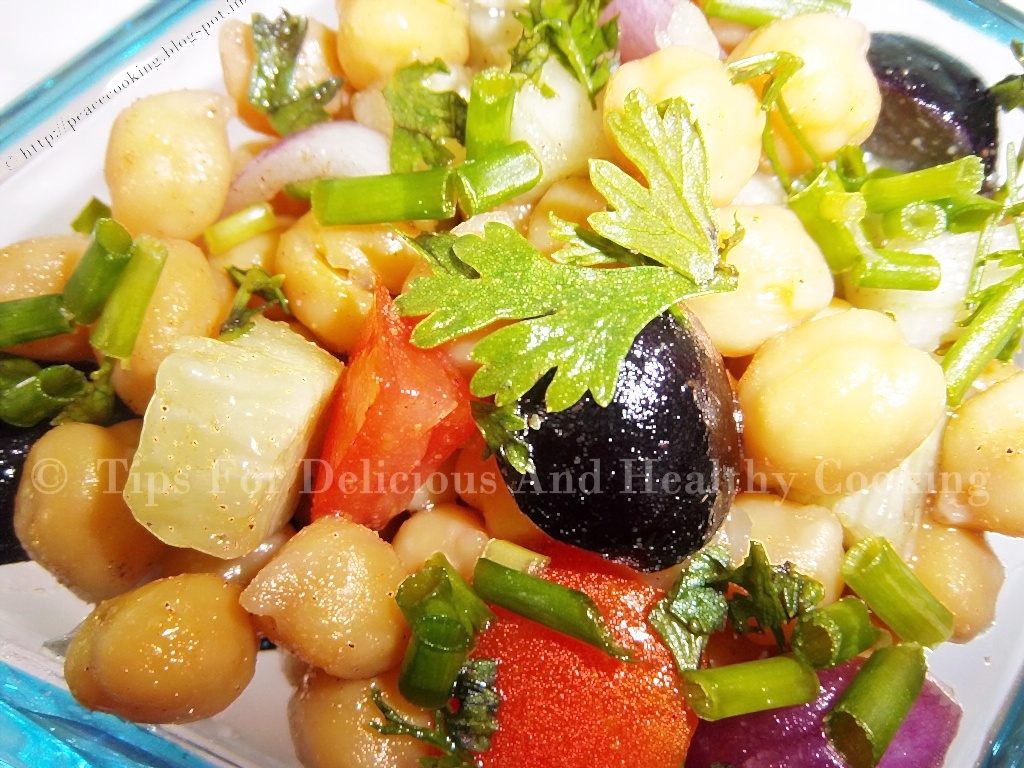 TIPS FOR DELICIOUS AND HEALTHY COOKING: Warm Chickpeas Salad