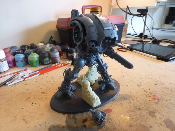 40k WIP imperial knight construction - right side