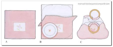 Manualidades: Como hacer bolsa de Tela paso a paso.