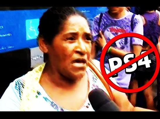 Mulher da calça de 300 reais faz protesto contra preço do PS4