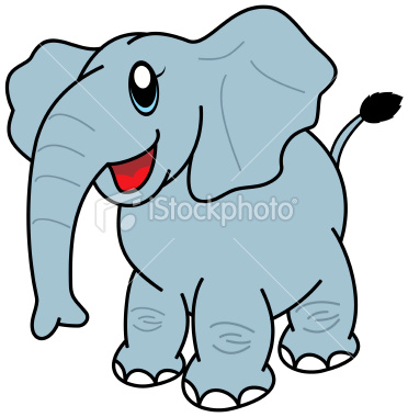 Cartoon elephant wallpaper