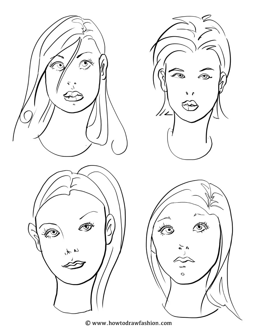 how to draw fashion faces of fashion