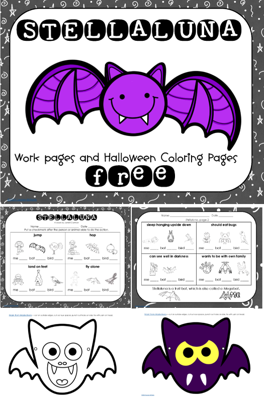 Stellaluna Free Printable with Bat Masks