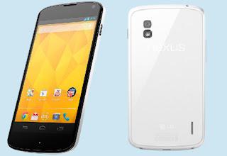 Nexus 4 White Diluncurkan LG
