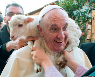 Pope Francis and sheep