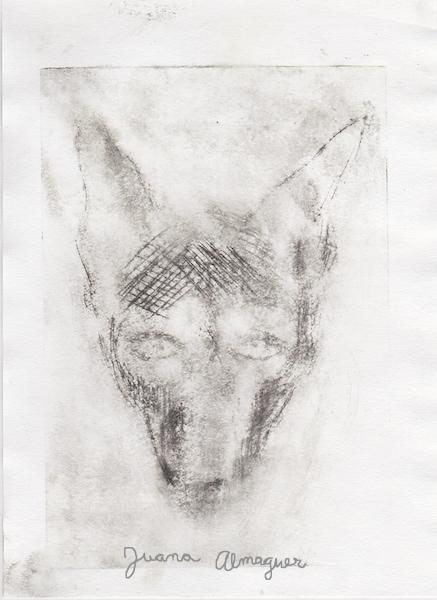 intaglio, coyote