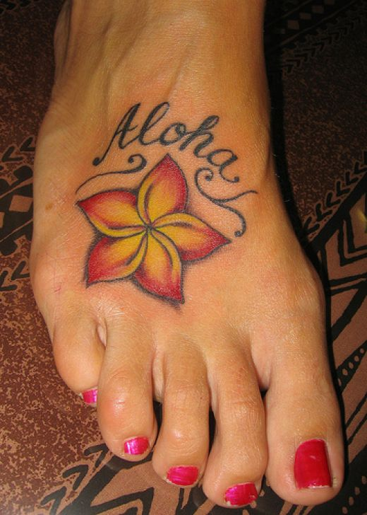 female tattoos on foot