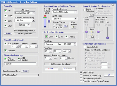Free Hi-Q Recorder | free music recording software