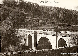 Coche de caballos por el puente del Navazo en Candelario Salamanca