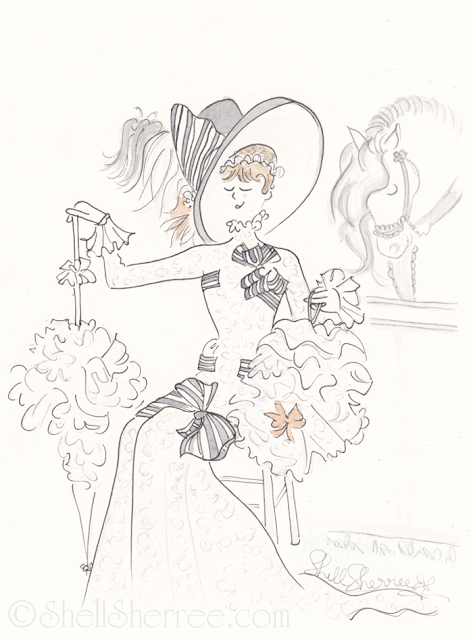 Fashion illustration : Eliza and Dover - My Fair Ladies © Shell-Sherree
