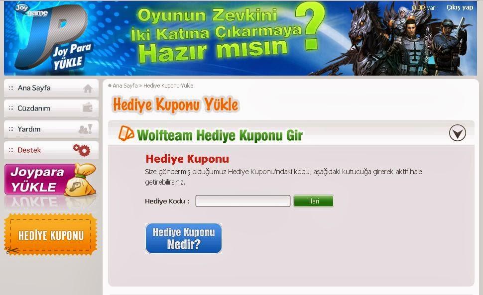 Wolfteam 25 Tl Lik Yeni Promo Kod 2014