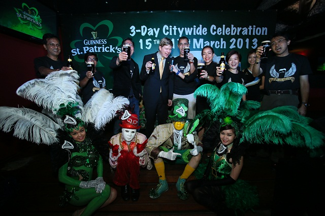 official launch of Guinness St Patrick's celebration at Havana, Changkat Bukit Bintang.