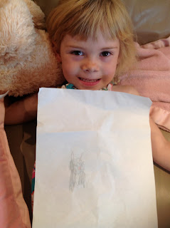 Emma and her bunny picture
