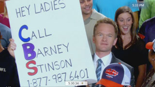 Barney Stinson Phone Number On Superbowl And Voicemail  Barney Stinson Video Resume