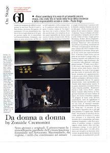 Articolo su Vogue gennaio 2011