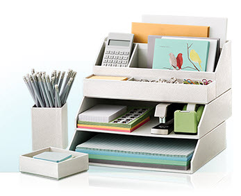 House blend martha stewart home office - Martha stewart desk organizers ...