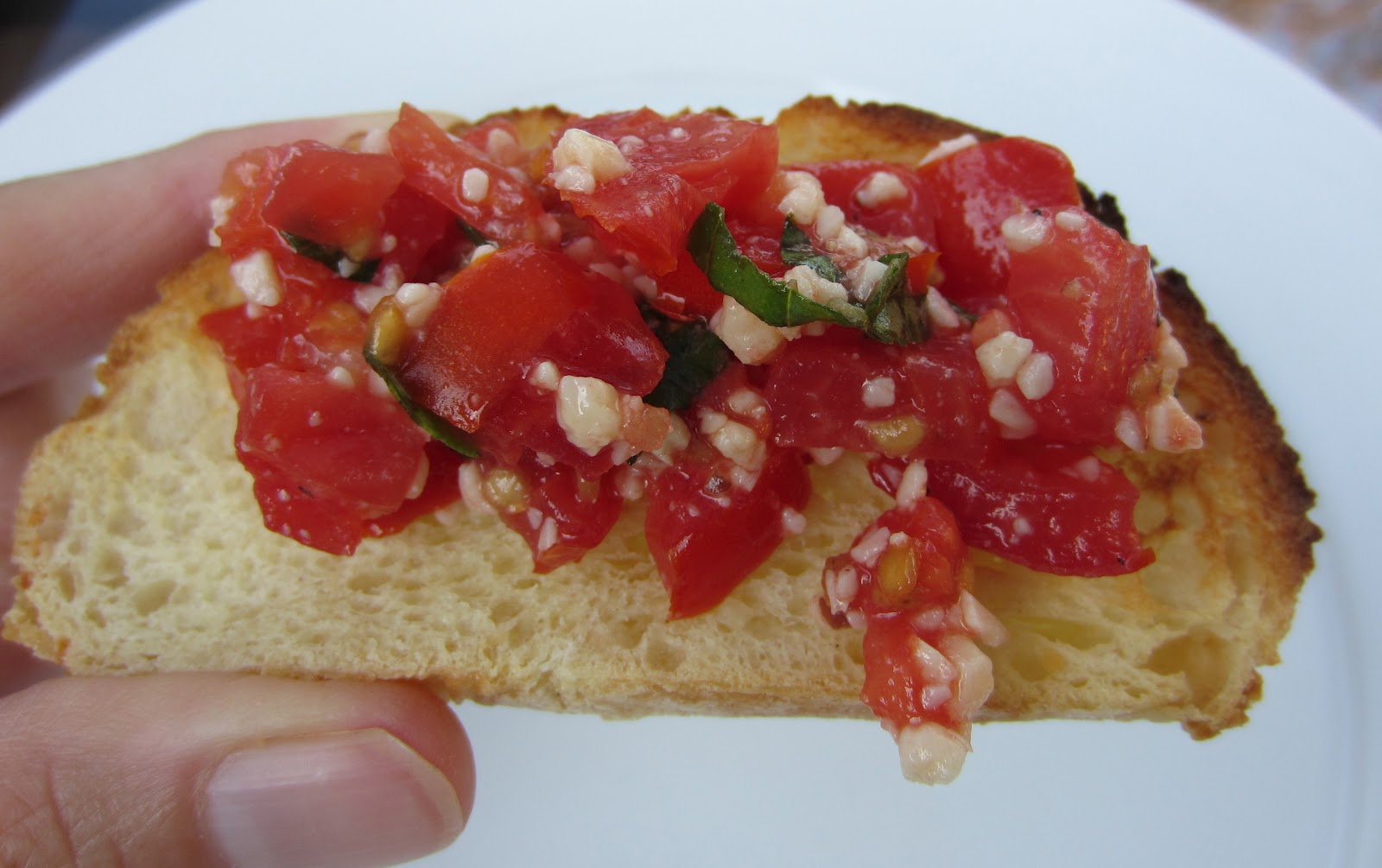 This is a basic recipe for tomato bruschetta. This makes a small batch ...